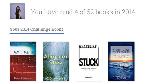 Besides two full time college classes I read four books in Jan and Feb how many have you read?